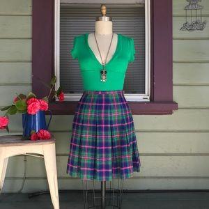 Vintage 60s wool miniskirt